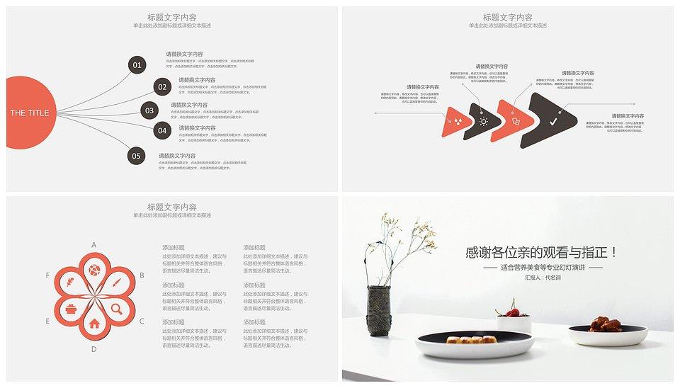 ppt动态边框模板_简约餐厅美食文化介绍食品行业动态PPT模板 - 小白办公